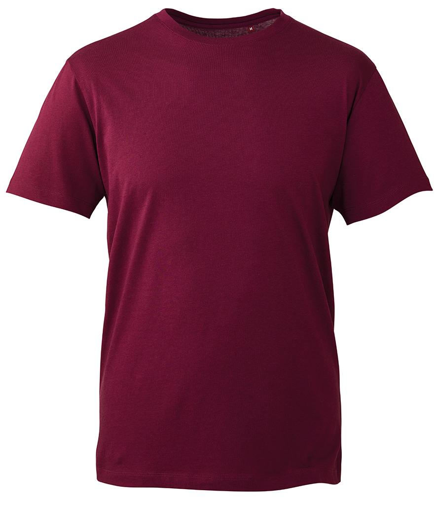 burgundy organic t-shirt anthem