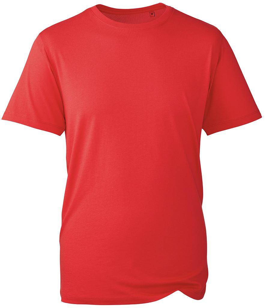red organic t-shirt anthem