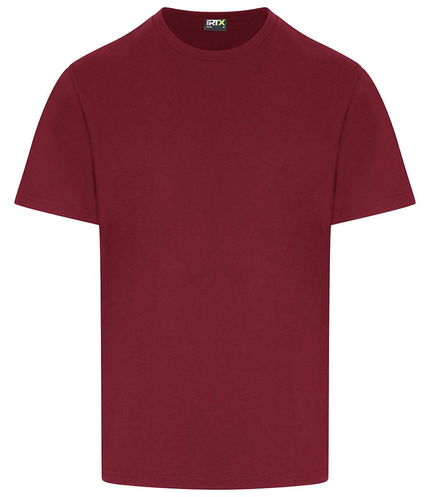 burgundy pro rtx workwear t-shirt