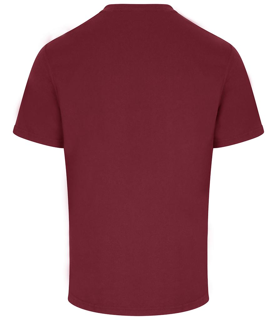 pro rtx workwear t-shirt burgundy back