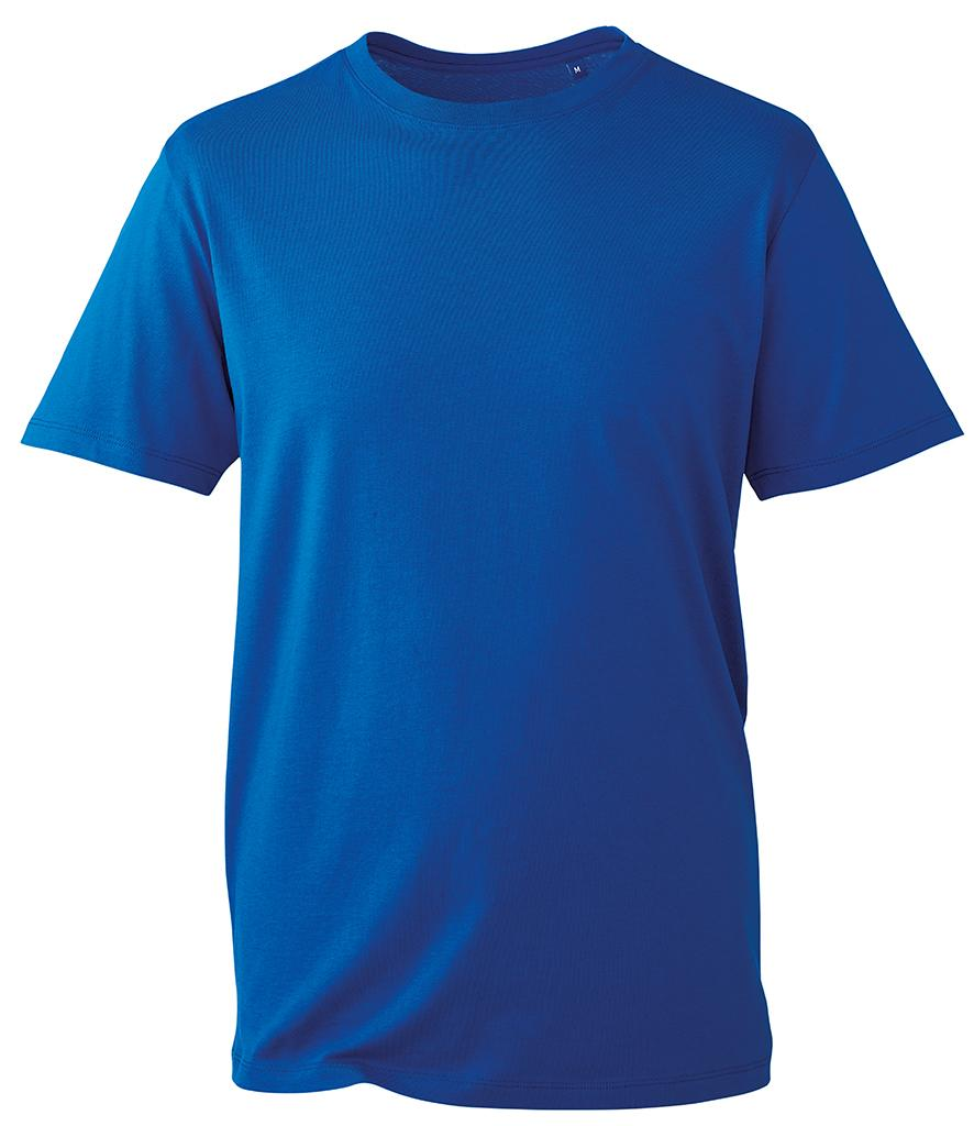 royal blue organic t-shirt anthem