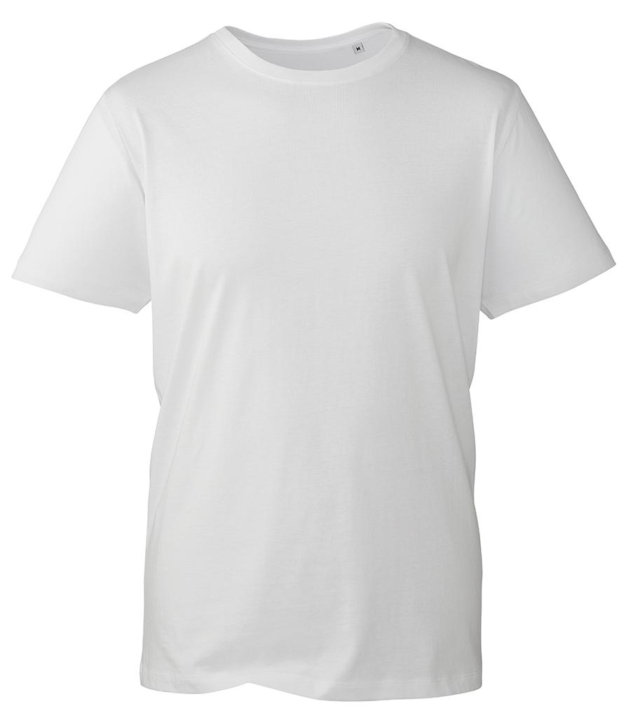 white organic t-shirt anthem