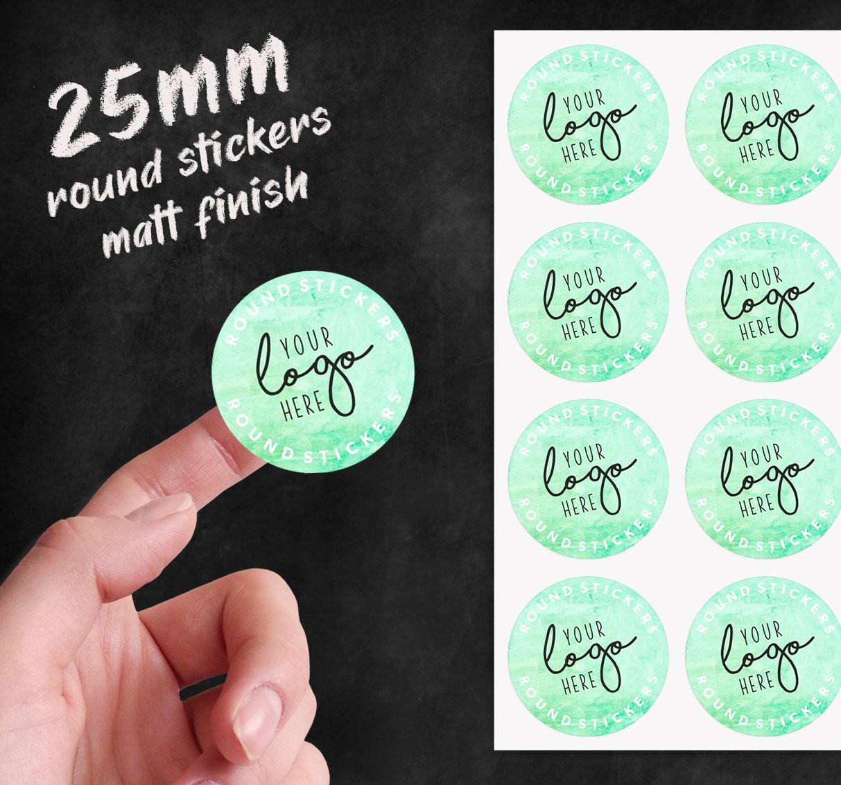 25mm round stickers