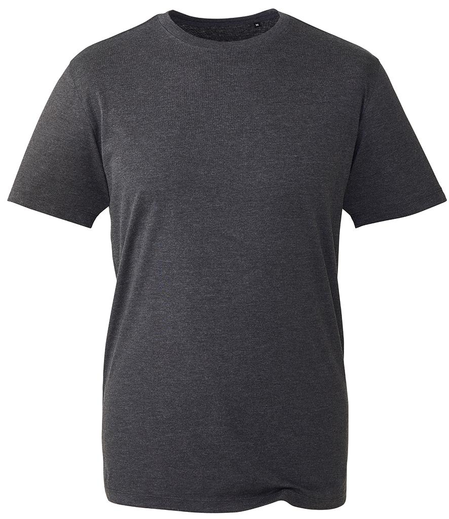 dark grey marl organic t-shirt anthem