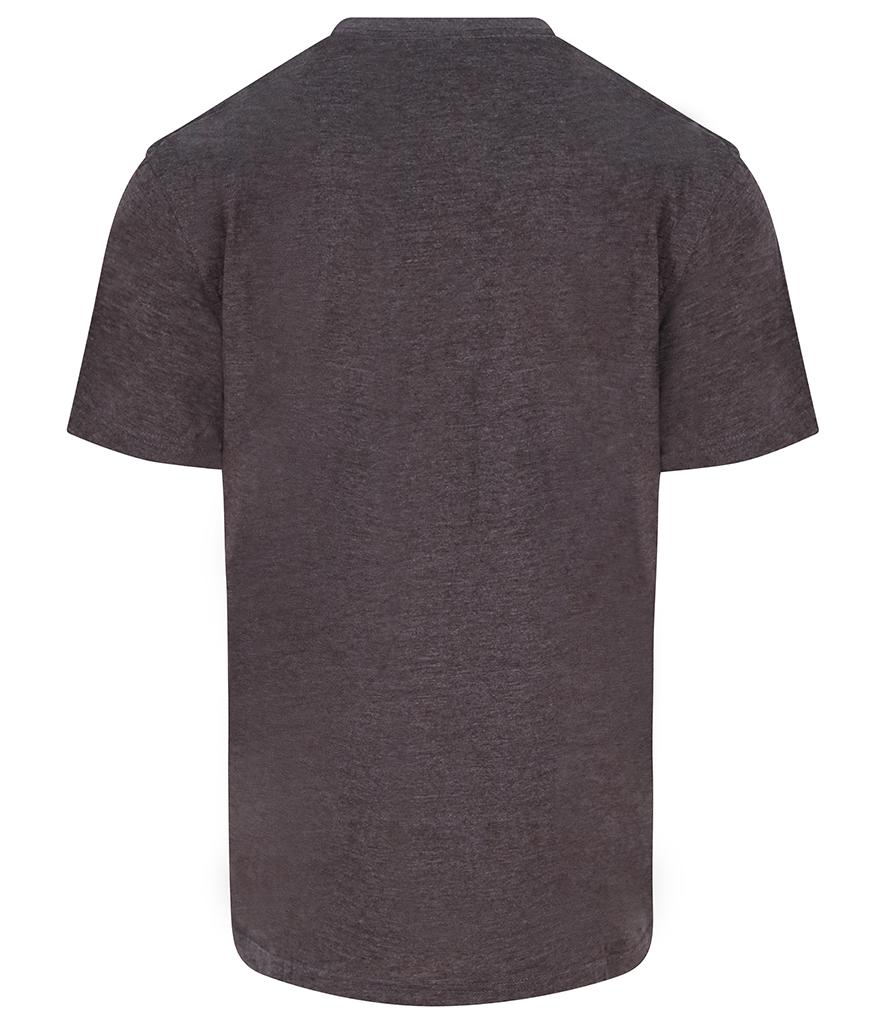 charcoal grey pro rtx workwear t-shirt back