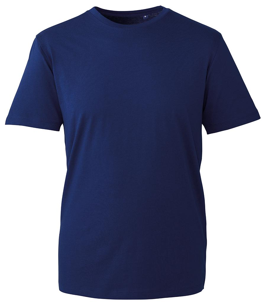 navy blue organic t-shirt anthem