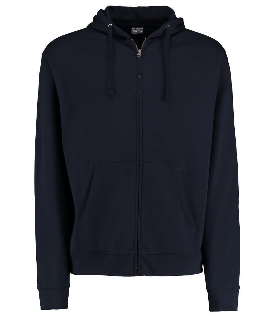 navy blue k303 kustom kit zipped hoodie