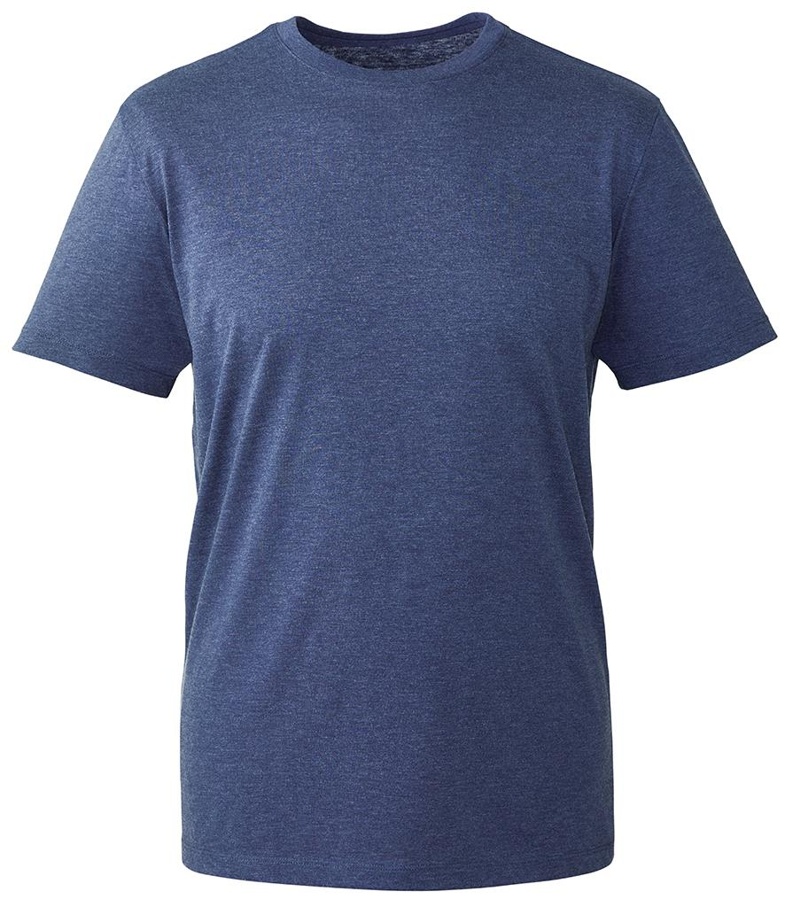 navy marl organic t-shirt anthem