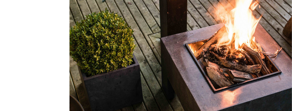 <h2>NOW IN STOCK</h2><p> Garden Firepits & Chimeneas