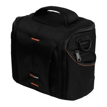 Image of Camlink Camera Shoulder Bag Black/Orange CL CB21