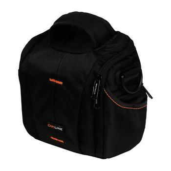 Image of Camlink Camera Shoulder Bag Black/Orange CL CB20