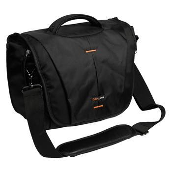 Image of Camlink Camera Shoulder Bag Black/Orange CL CB23