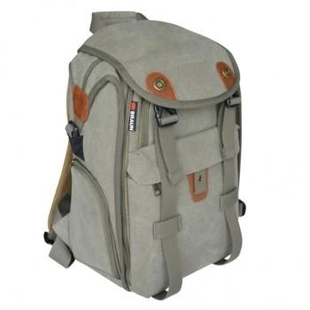 0cdc52f9cceed Braun Canvas Backpack Concrete Grey