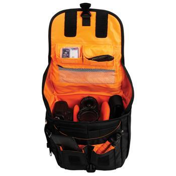 Image of Camlink Camera Shoulder Bag Black/Orange CL CB24