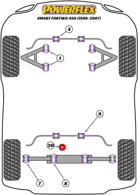 rear link arm bush inner