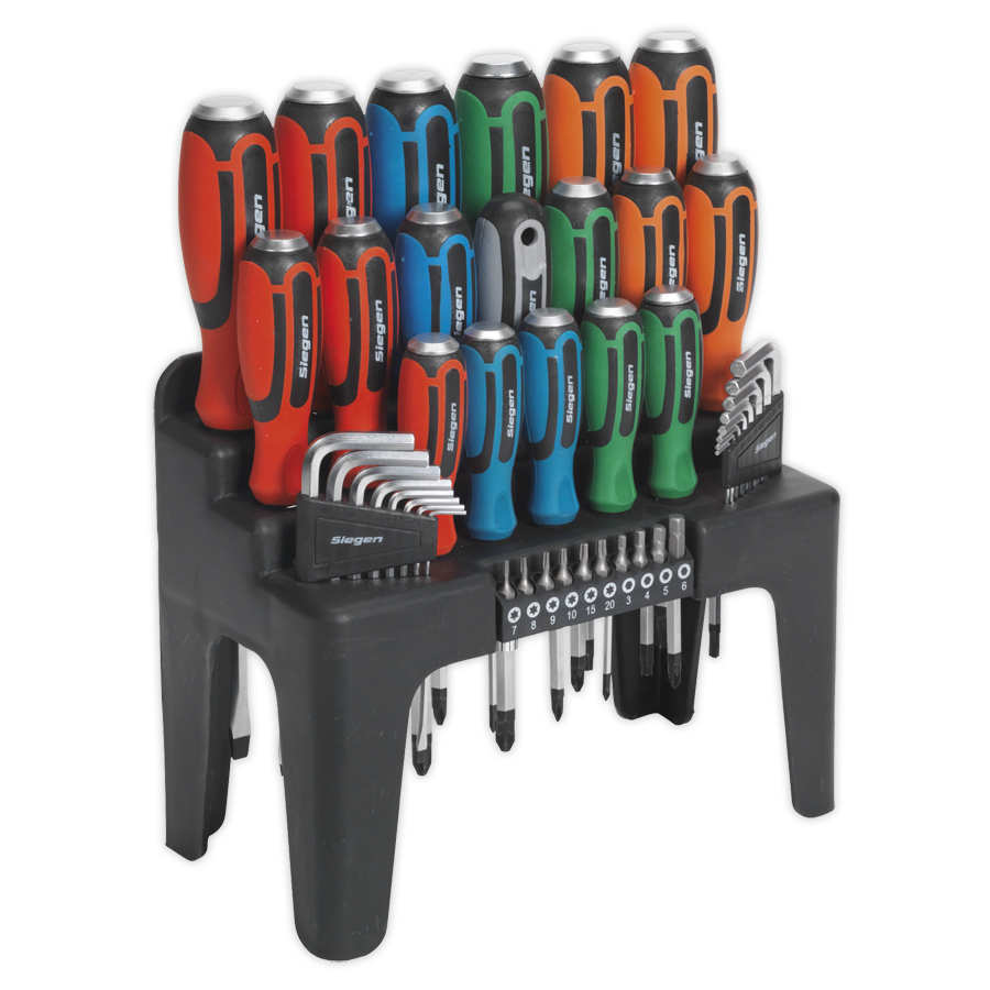 hammer thru screwdriver hex key bit set 44pc sealey. Black Bedroom Furniture Sets. Home Design Ideas