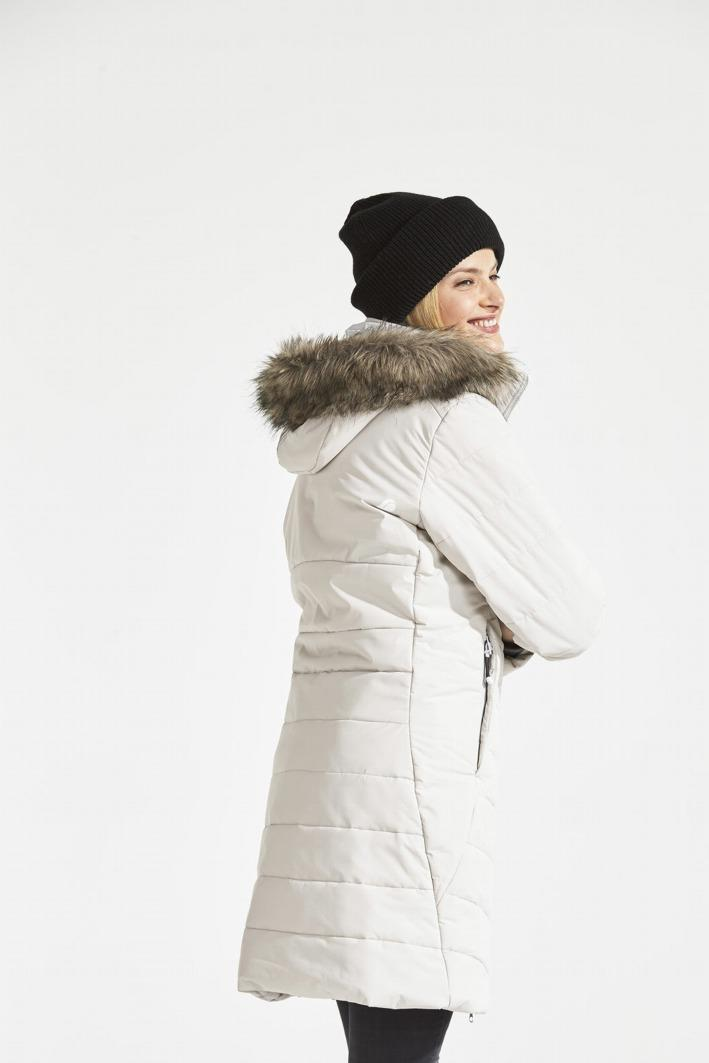 d596fd23e Didriksons | Natasha Padded Women's Parka Aluminum | Ju-a Lingerie