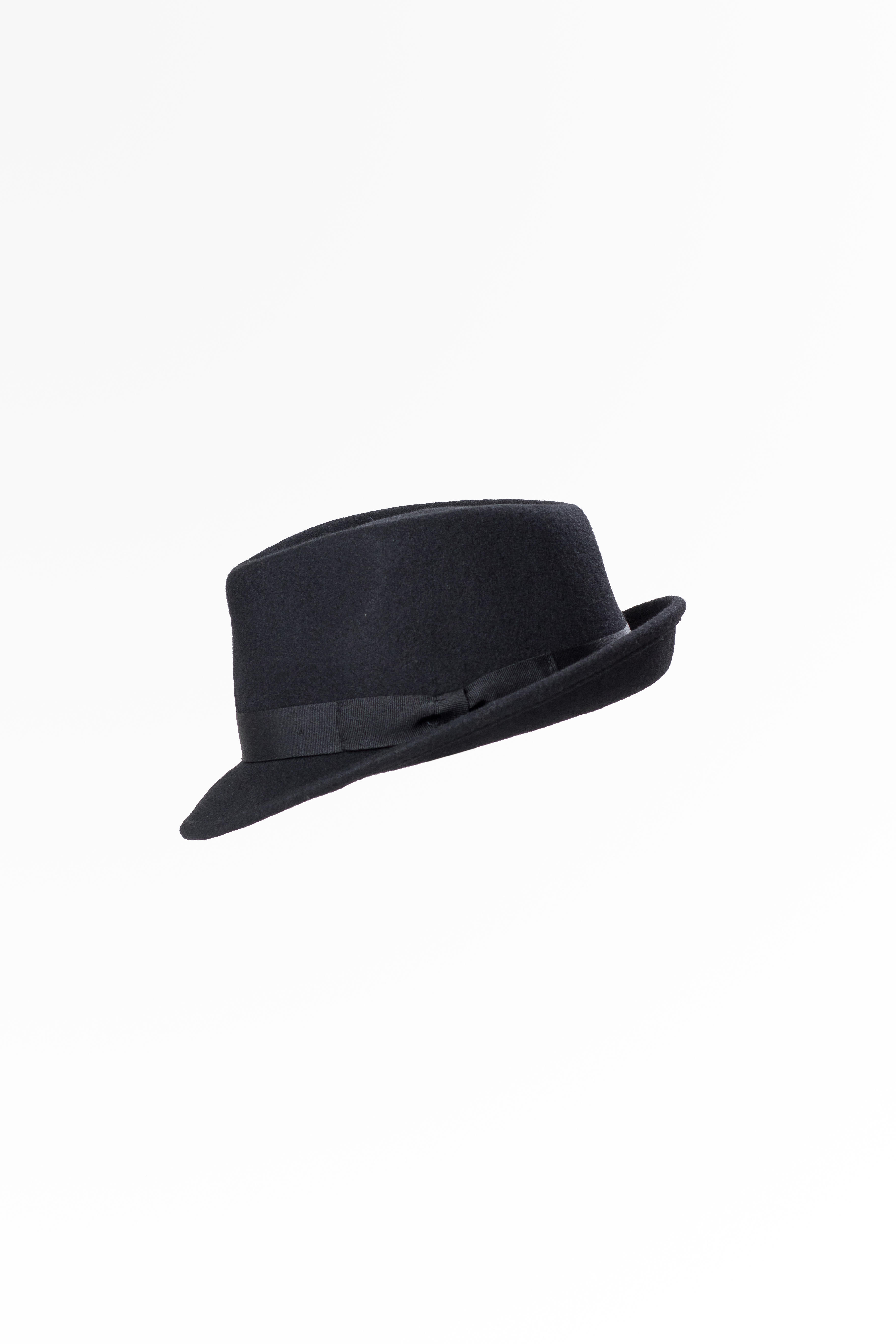 Wool Felt Trilby Hat Black