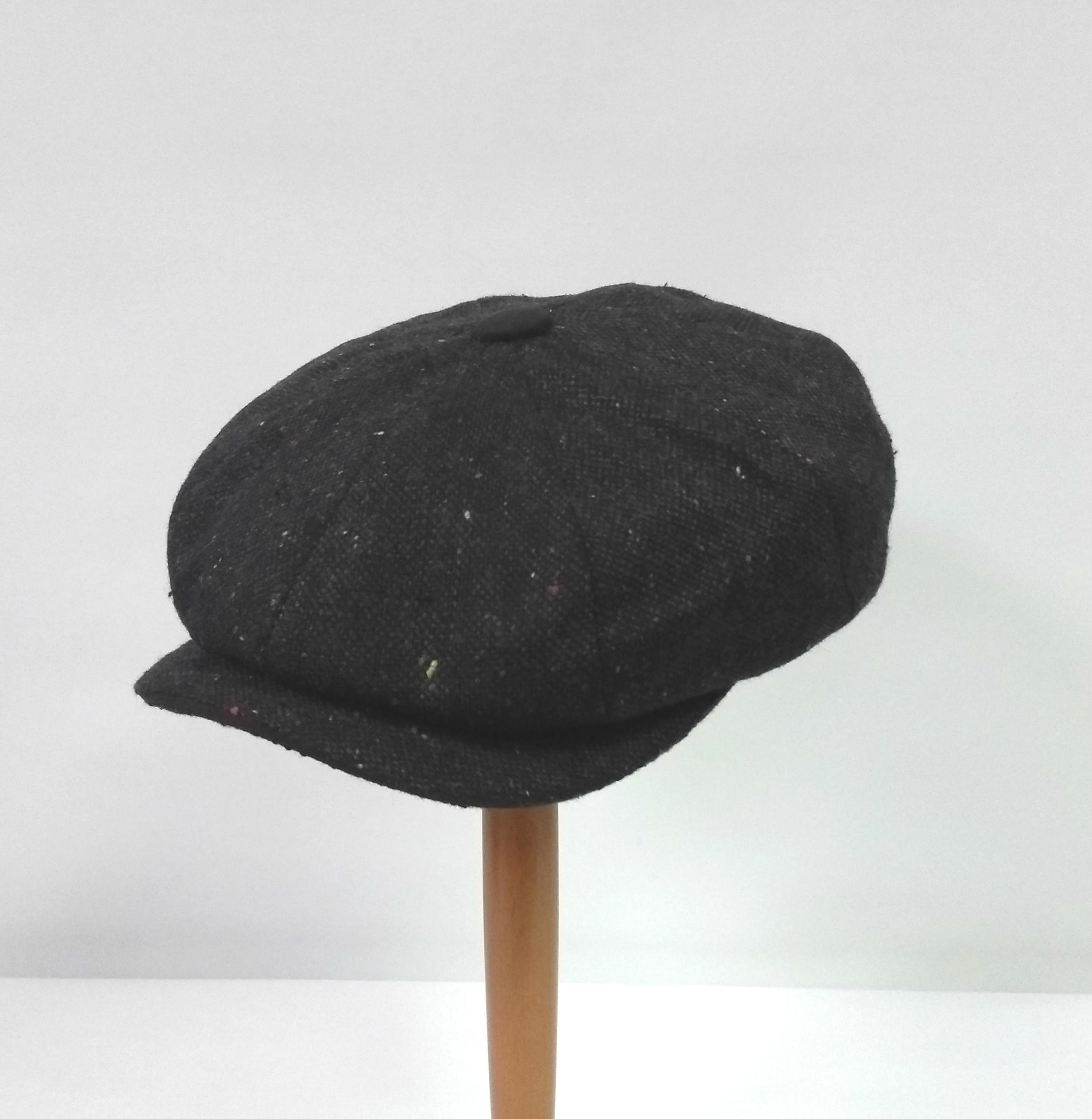 Whiteley Galactic Tweed Newsboy Cap - Charcoal/Sable