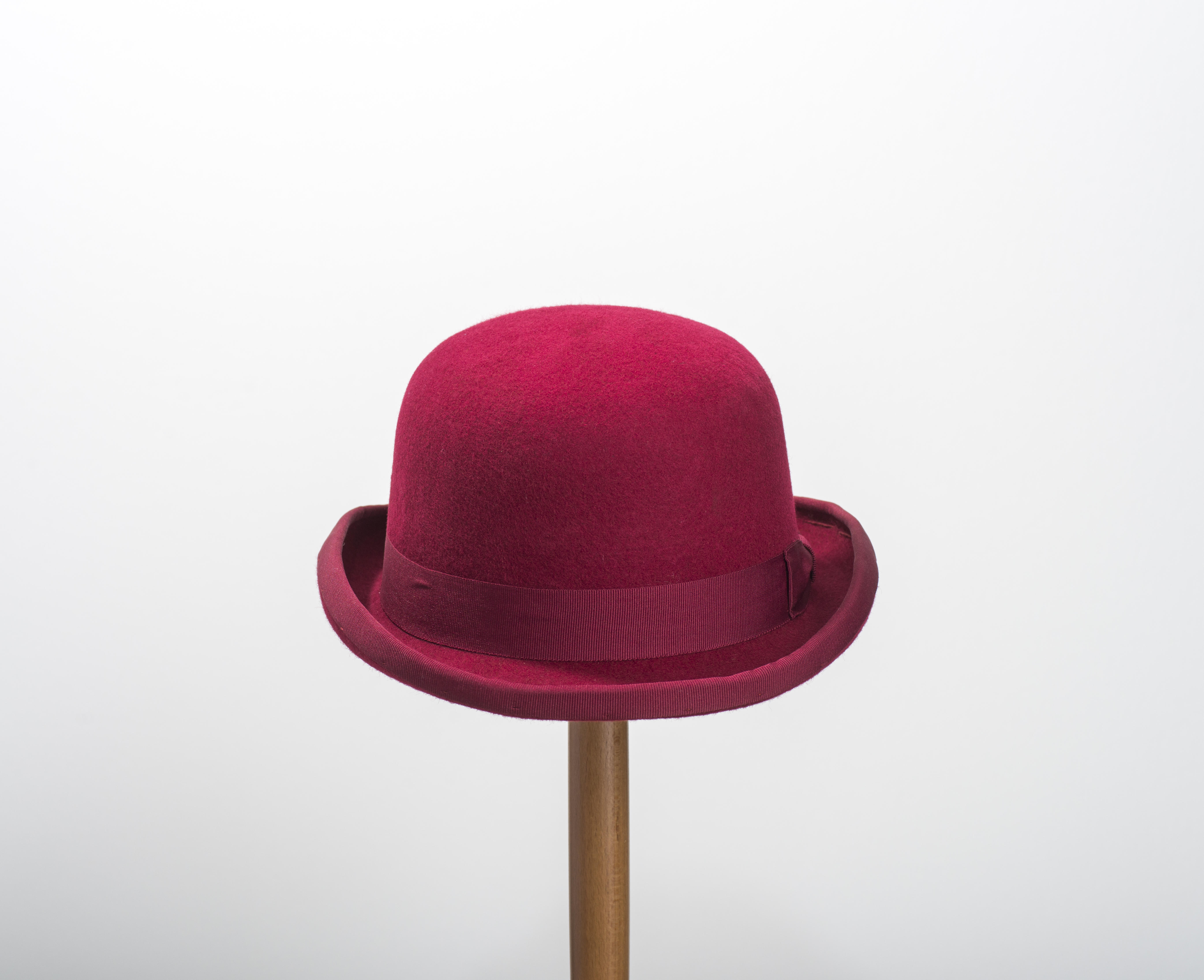 Classic Bowler Hat Burgundy