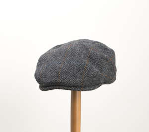 Whiteley Estate Check Tweed Earflap Cap - Charcoal