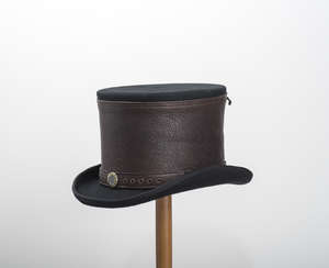 Leather Corset Steampunk Top Hat