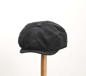 Whiteley Corduroy Newsboy Cap - Black