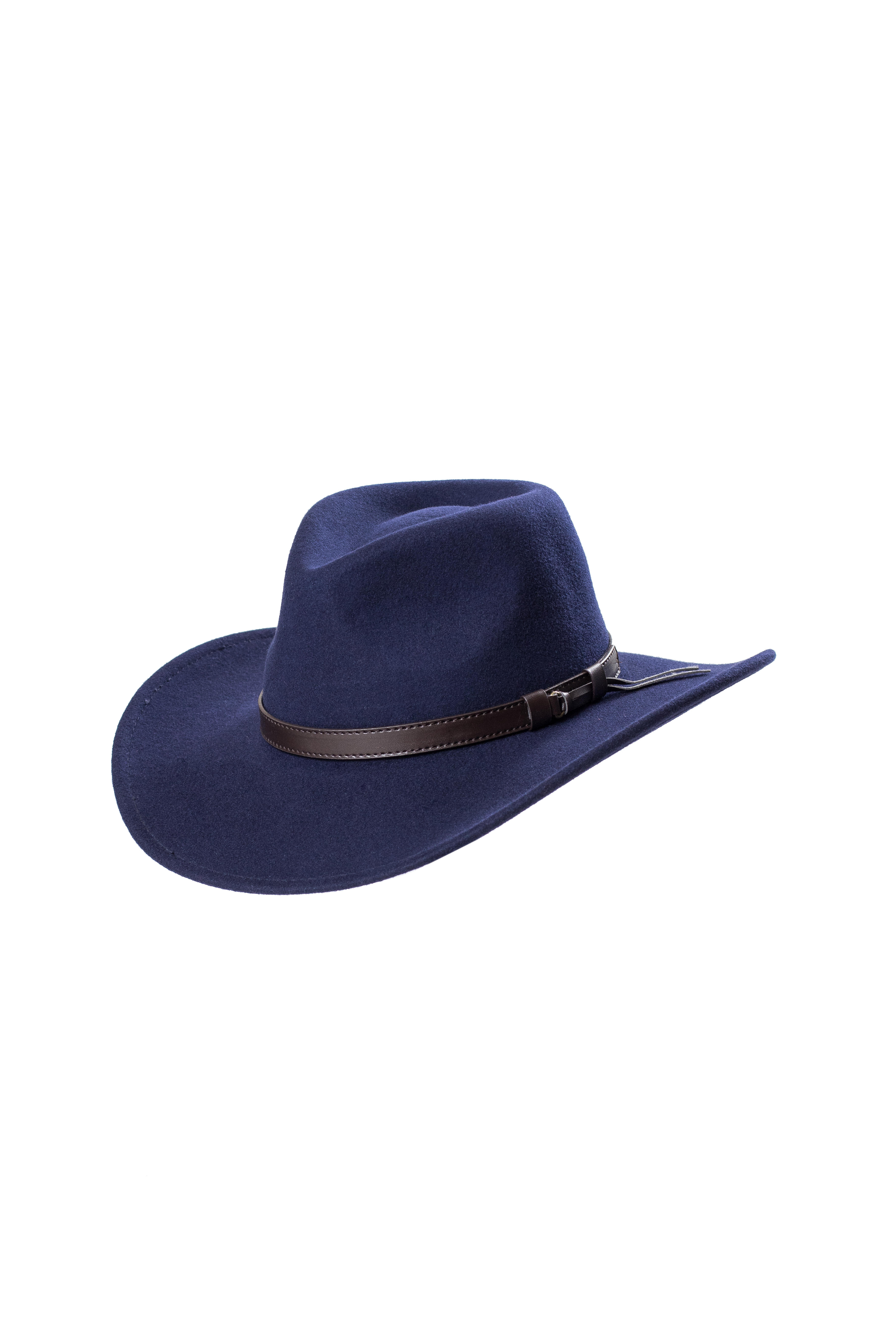 Wool Felt Cowboy Hat Navy