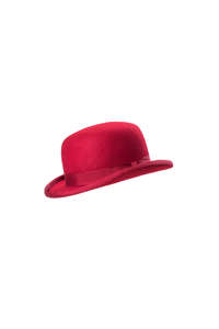 Christys' Fashion Bowler Hat Red