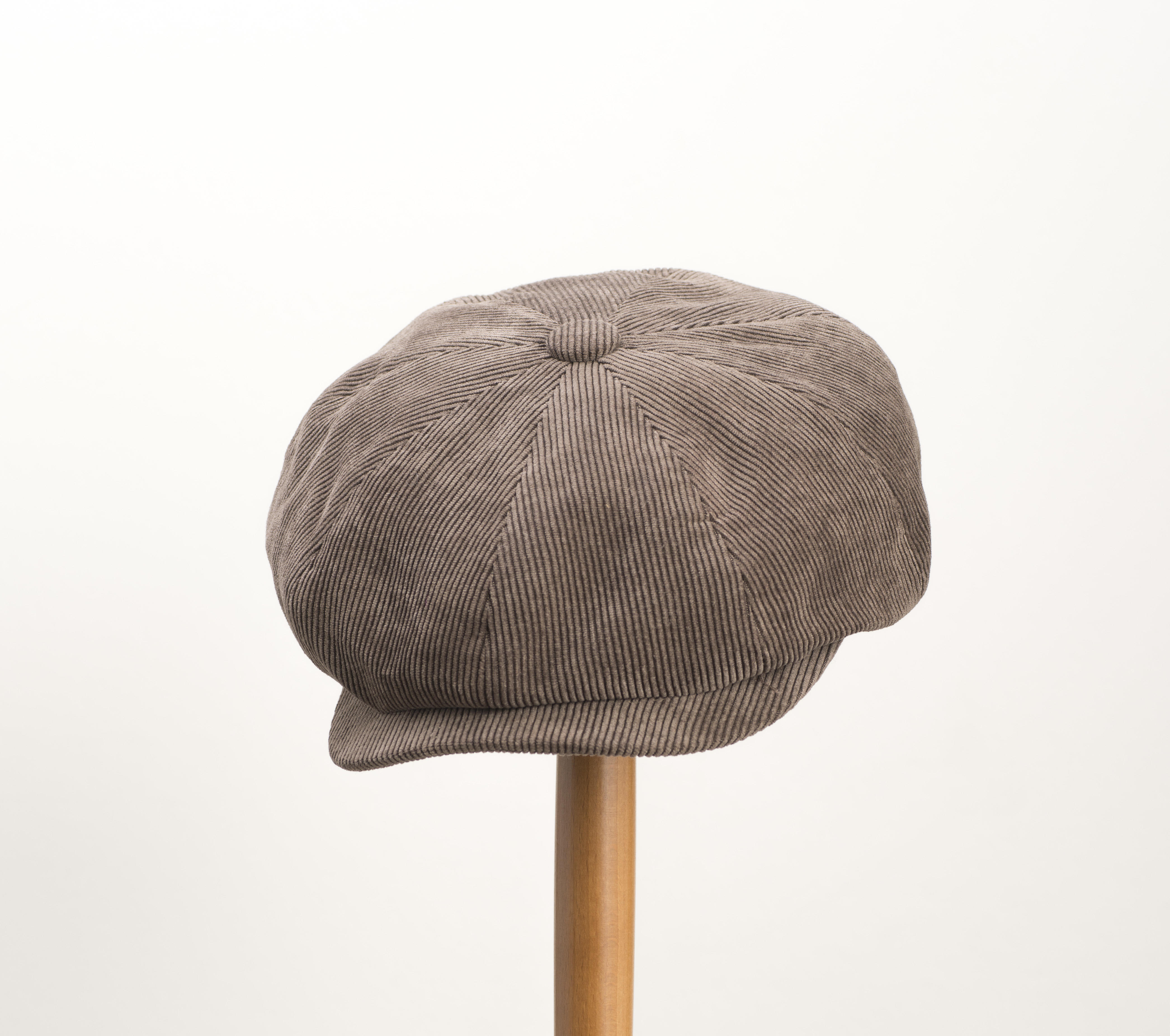 Whiteley Corduroy Newsboy Cap - Sable