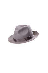 Christys' Chepstow Fedora Hat Grey