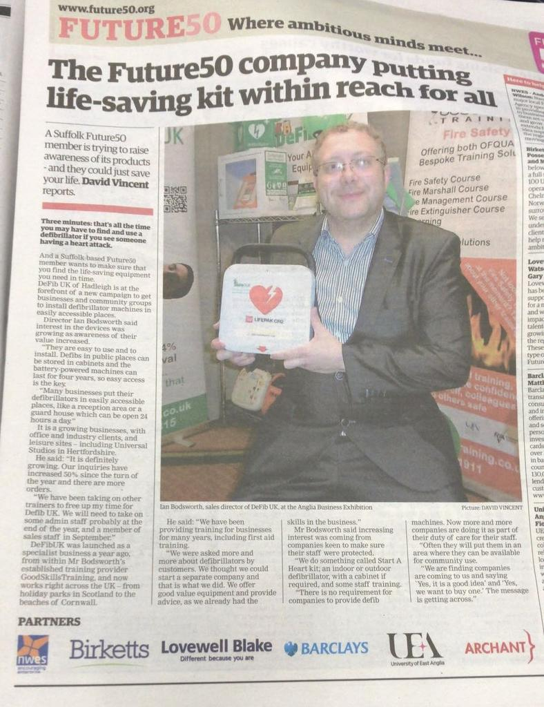 AEDs, because Every Heart Matters with DeFib UK