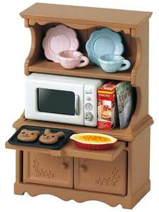 Cupboard and Oven
