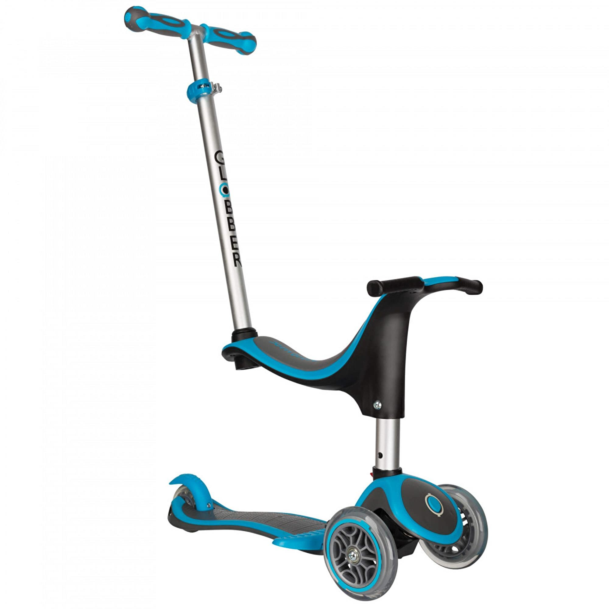 globber evo 5 in 1 scooter blue. Black Bedroom Furniture Sets. Home Design Ideas