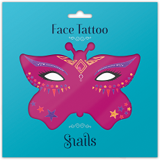 Snails Face Tattoo Fairy Dust