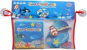 Sea creatures bath book