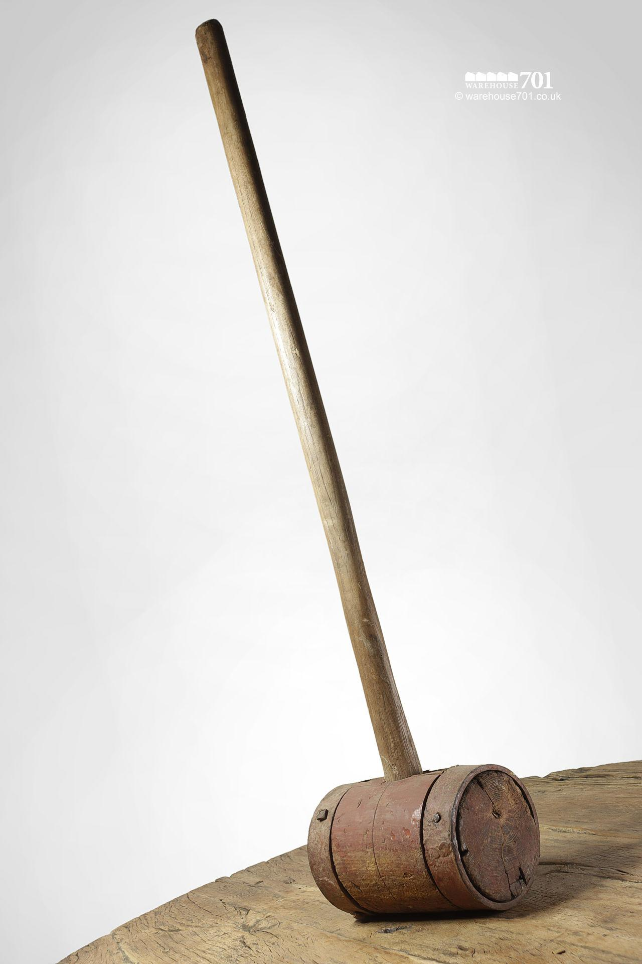 Old Red Long Handle Fairground Test-Your-Strength Strongman Mallet