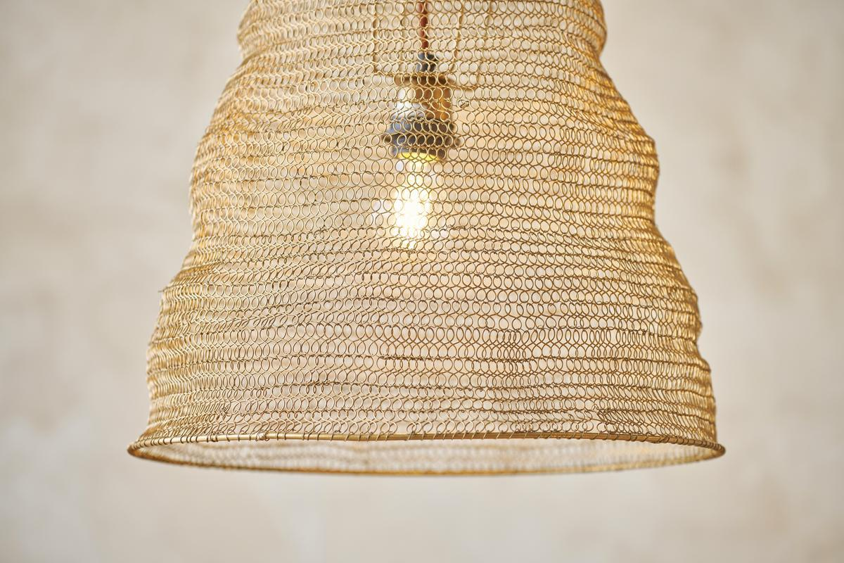 NEW Jatani Wire Lampshade Antique Brass #2