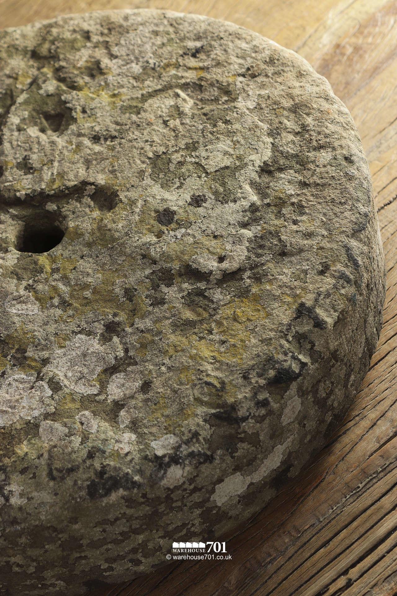 Lovely Little Characterful Salvaged Grinding Wheel #3