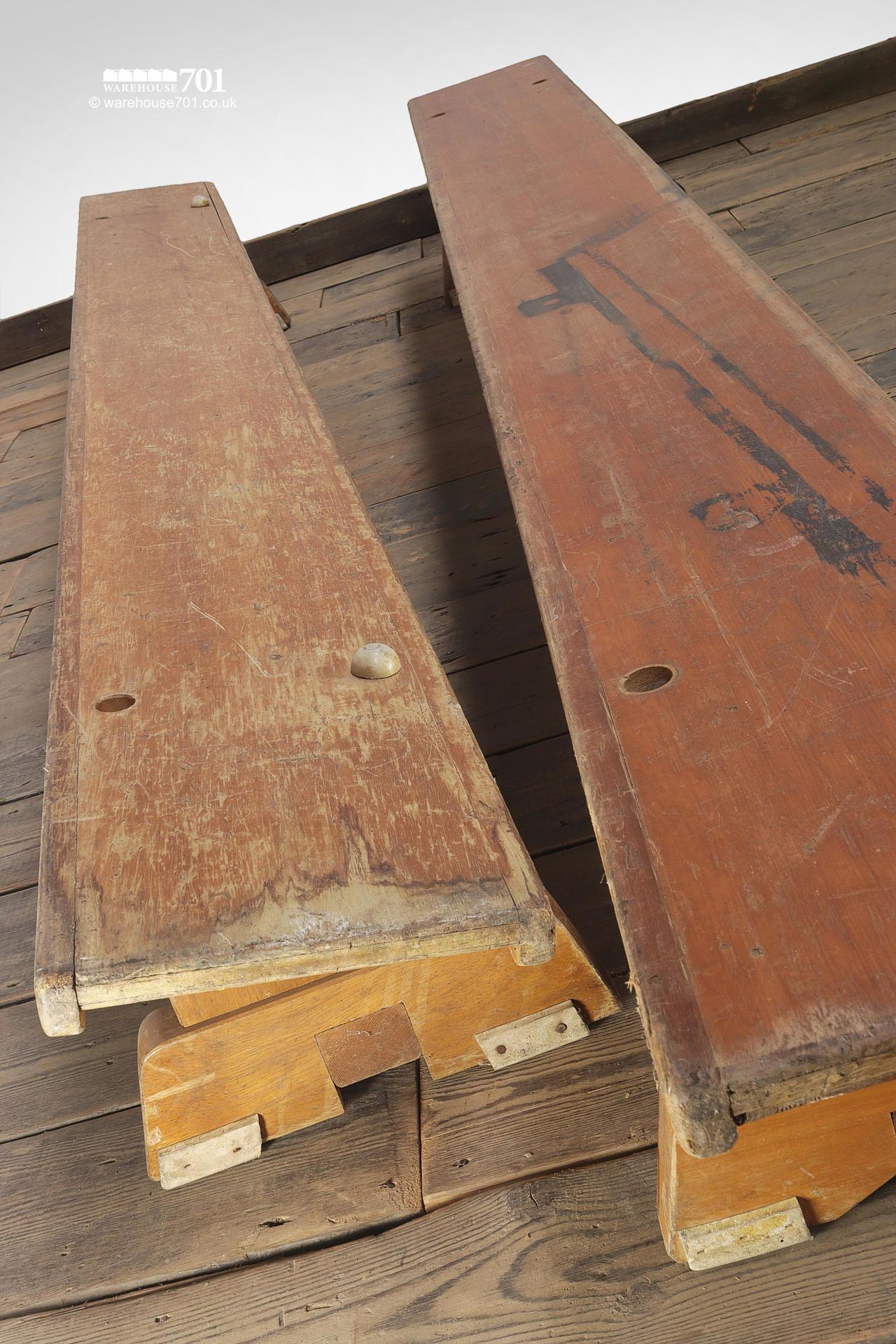 Two Salvaged Gymnasium or Locker Room Benches #6