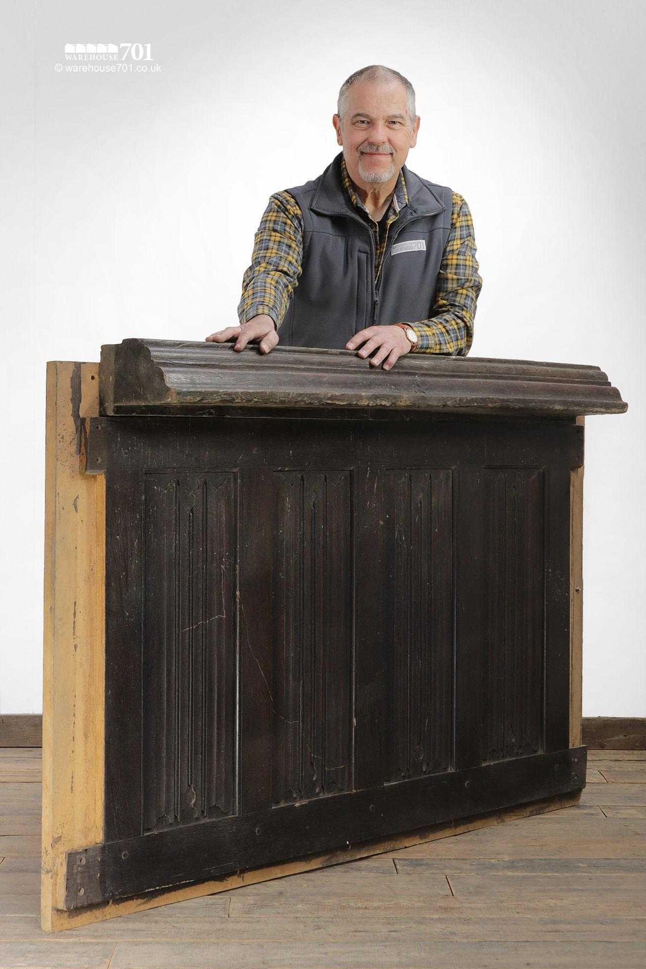 Salvaged Oak Bar Front or Reception Counter #2