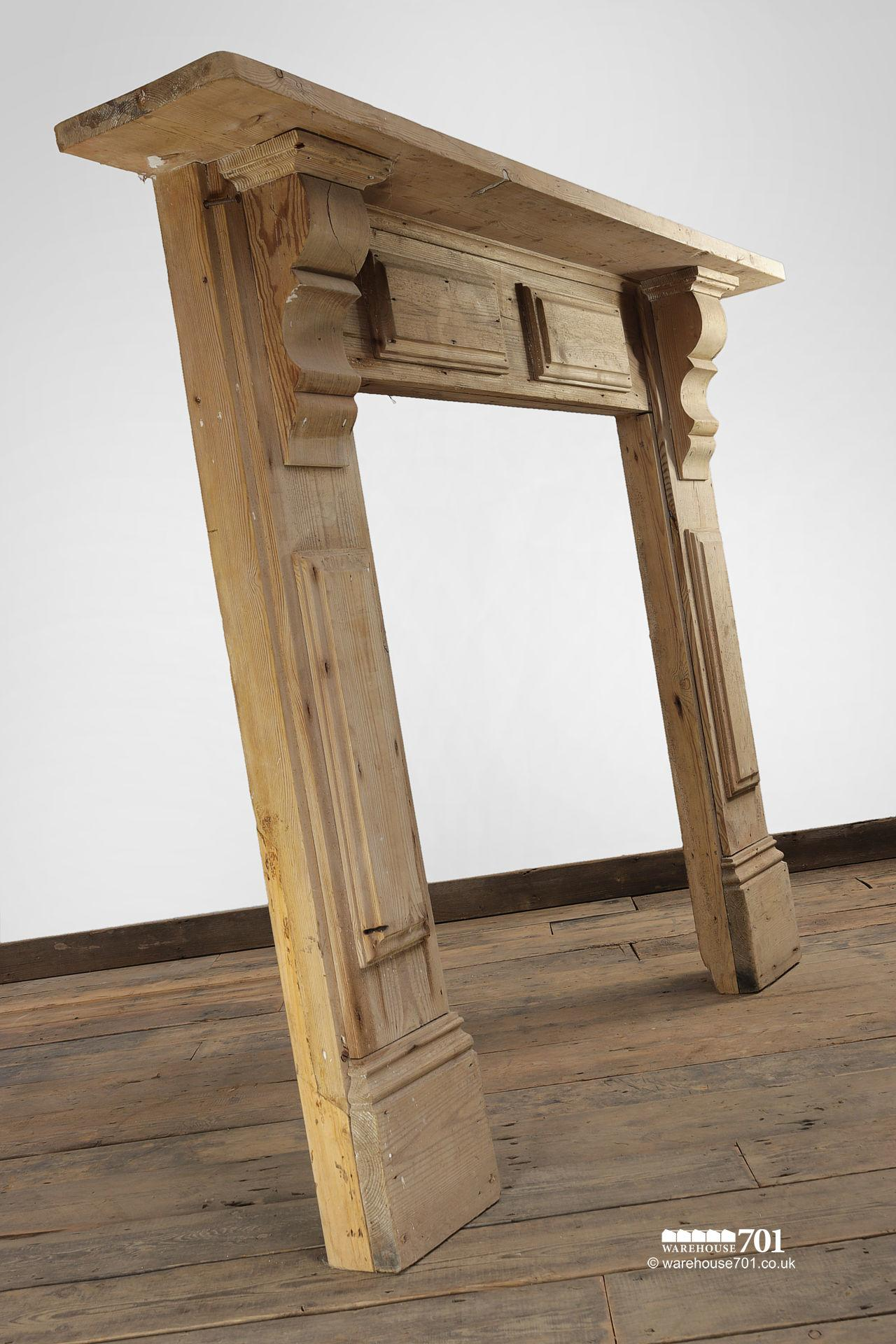 Reclaimed Decorative Stripped Pine Fire Surround #3