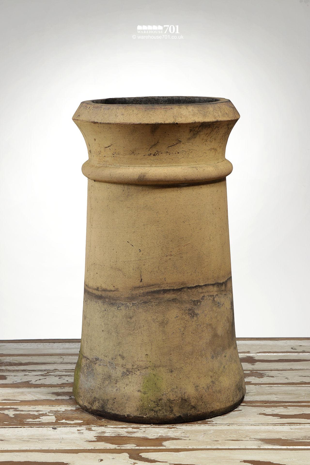 Reclaimed Tapered Buff Cannon Chimney Pot