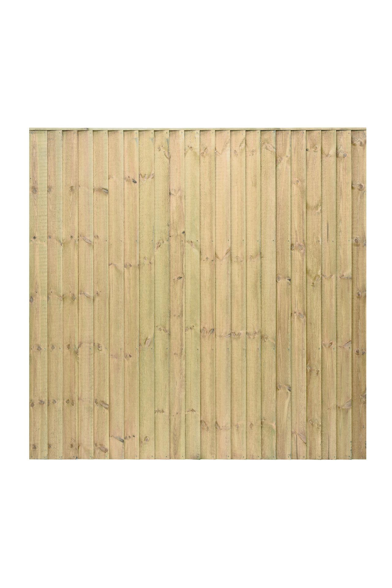 Standard GREEN Featheredge Wood Fence Panel
