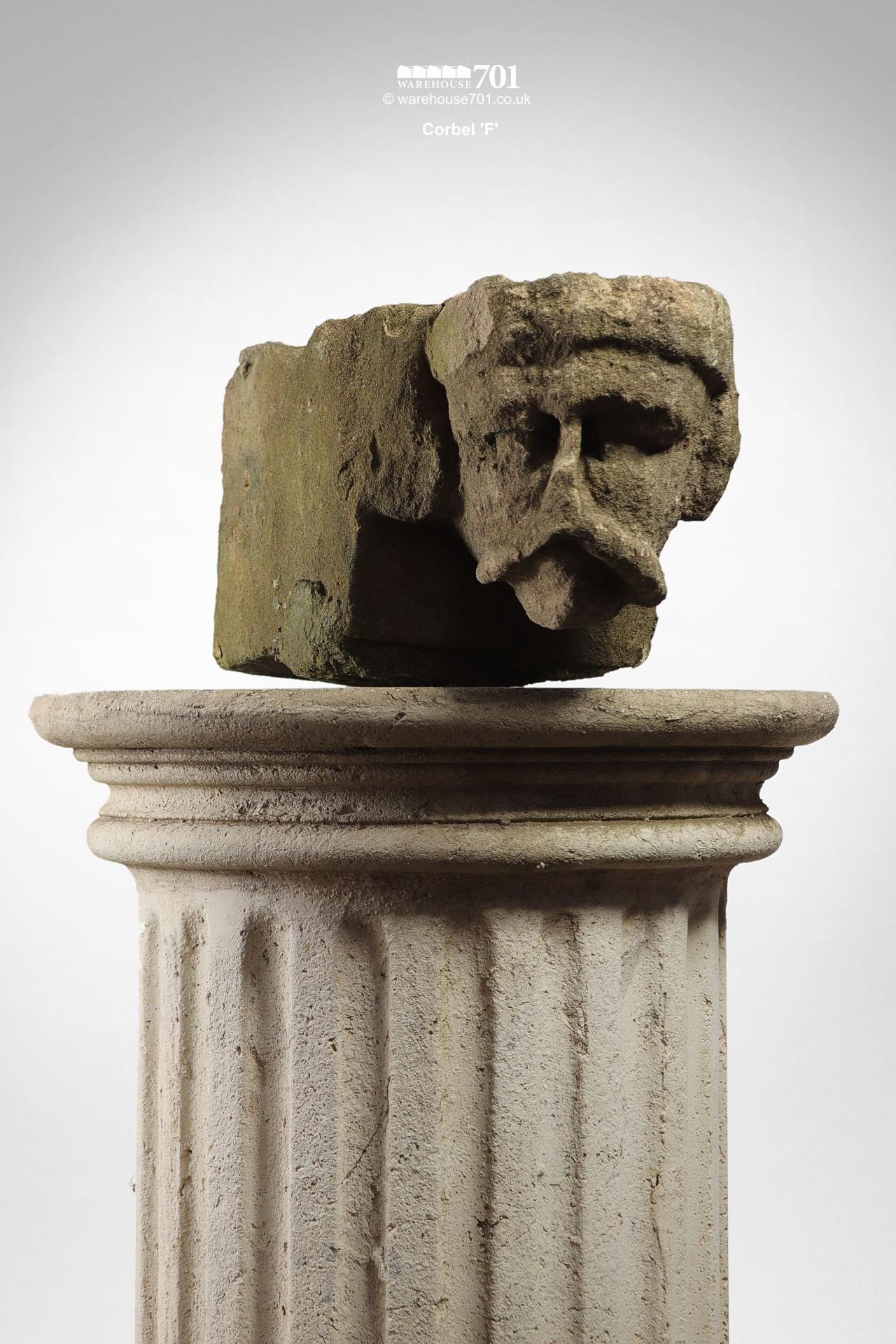 Assorted Salvaged Hand-Carved Stone Corbel Faces #10