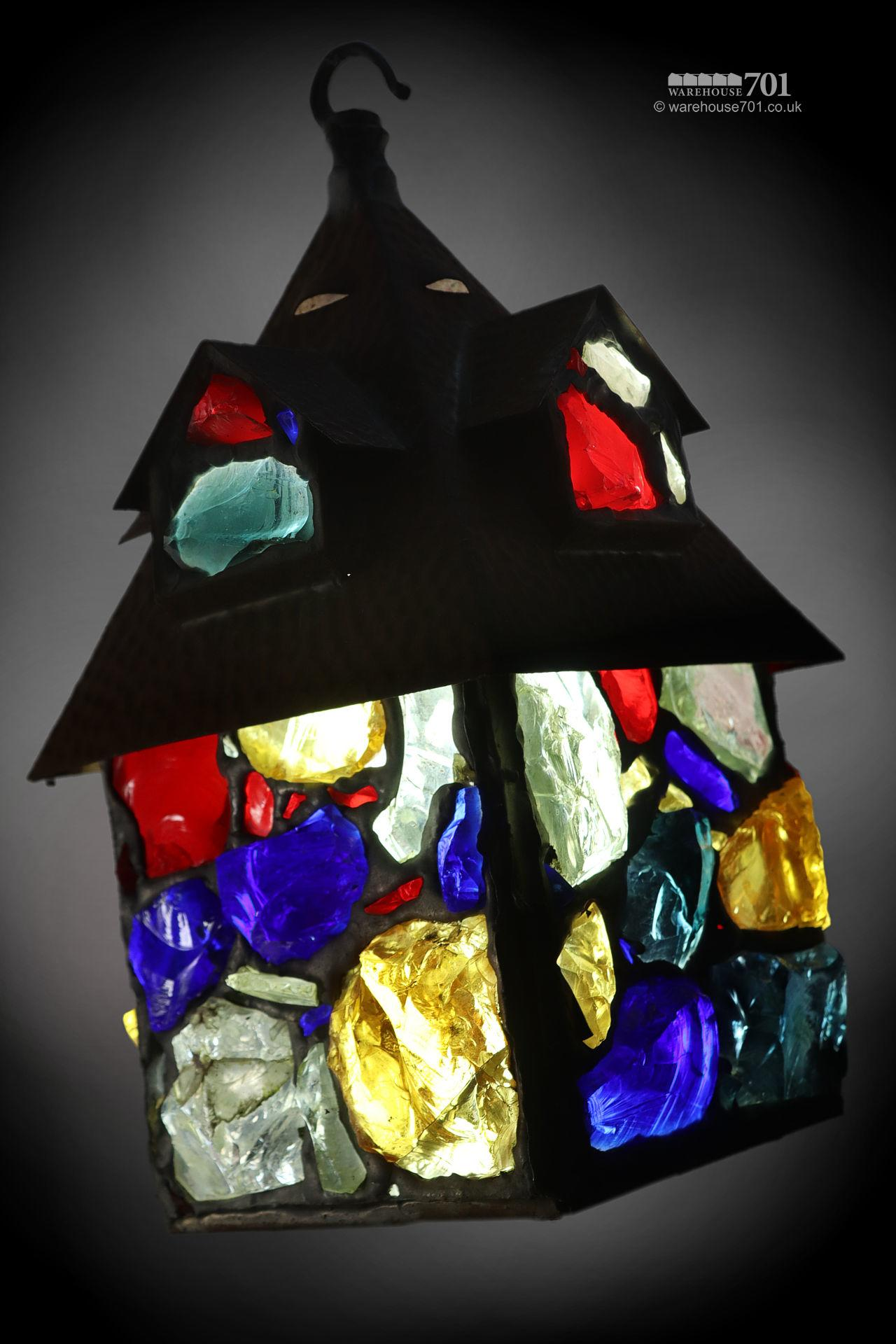 1950s Peter Marsh Dalle de Verre Coloured Glass Lantern #2