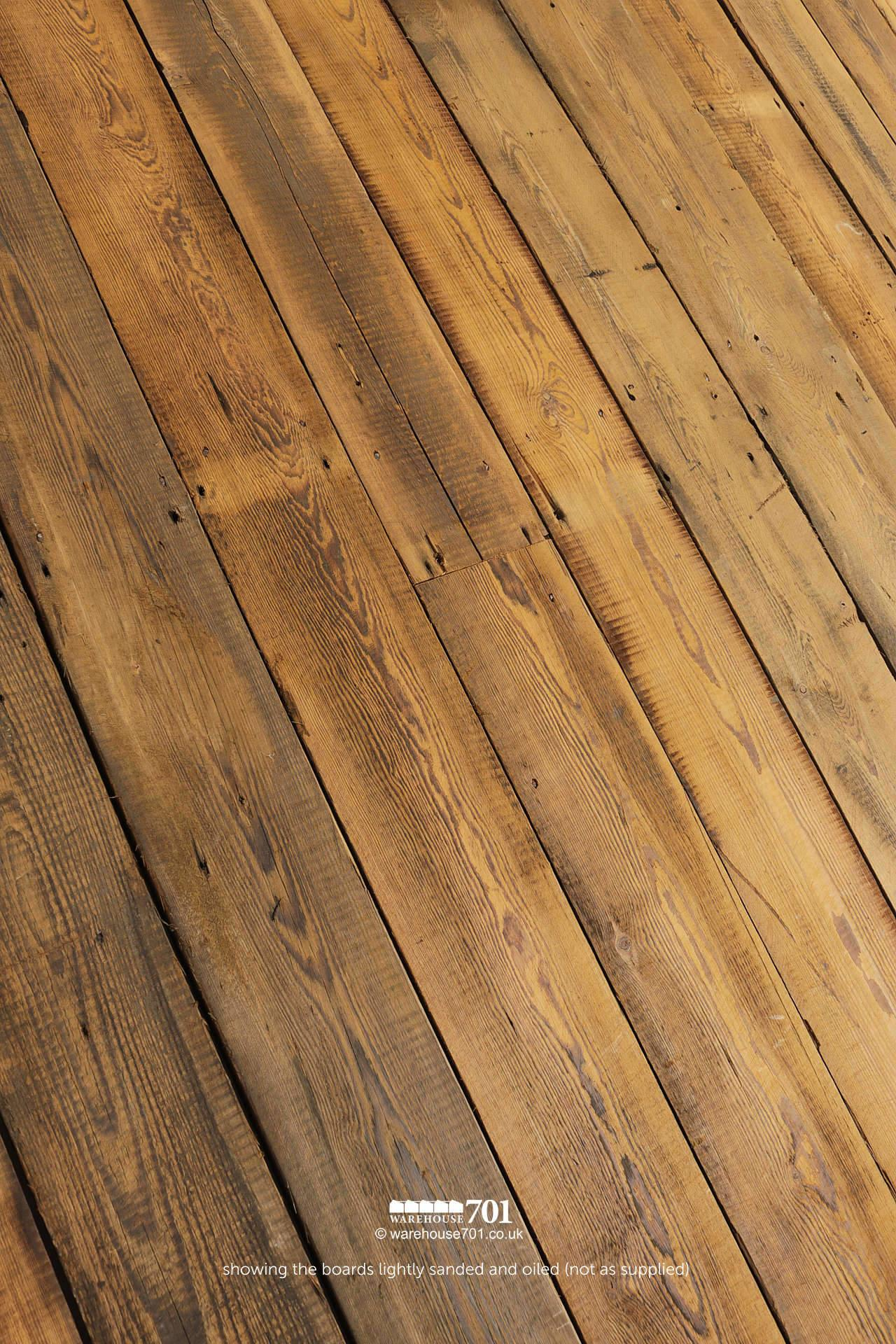 Salvaged Original WW1 munitions factory Pine Roof Boards / Floorboards #2
