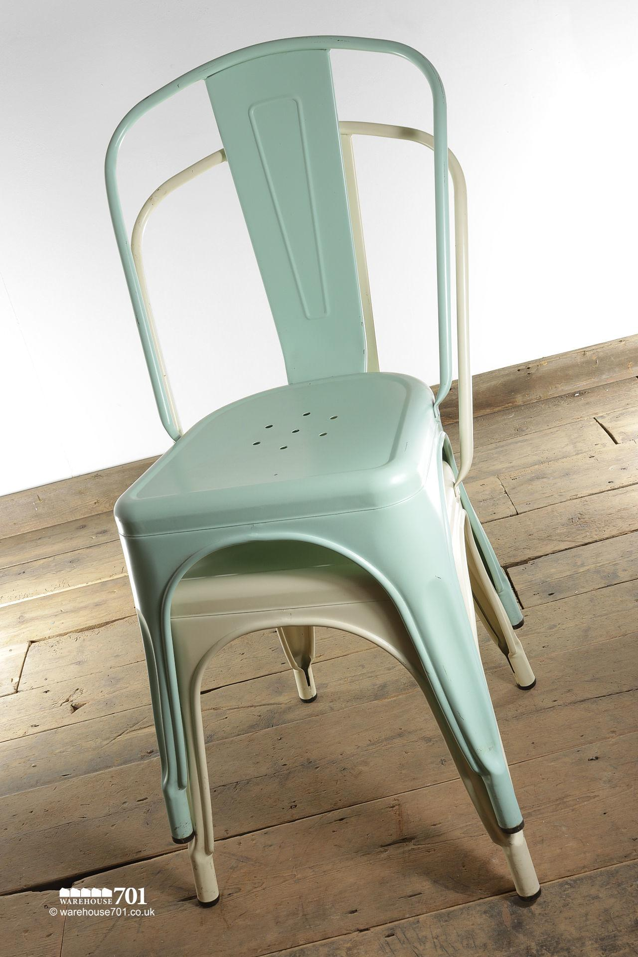 NEW model 'A' Tolix Style Stackable Pressed Metal Coloured Chair #2