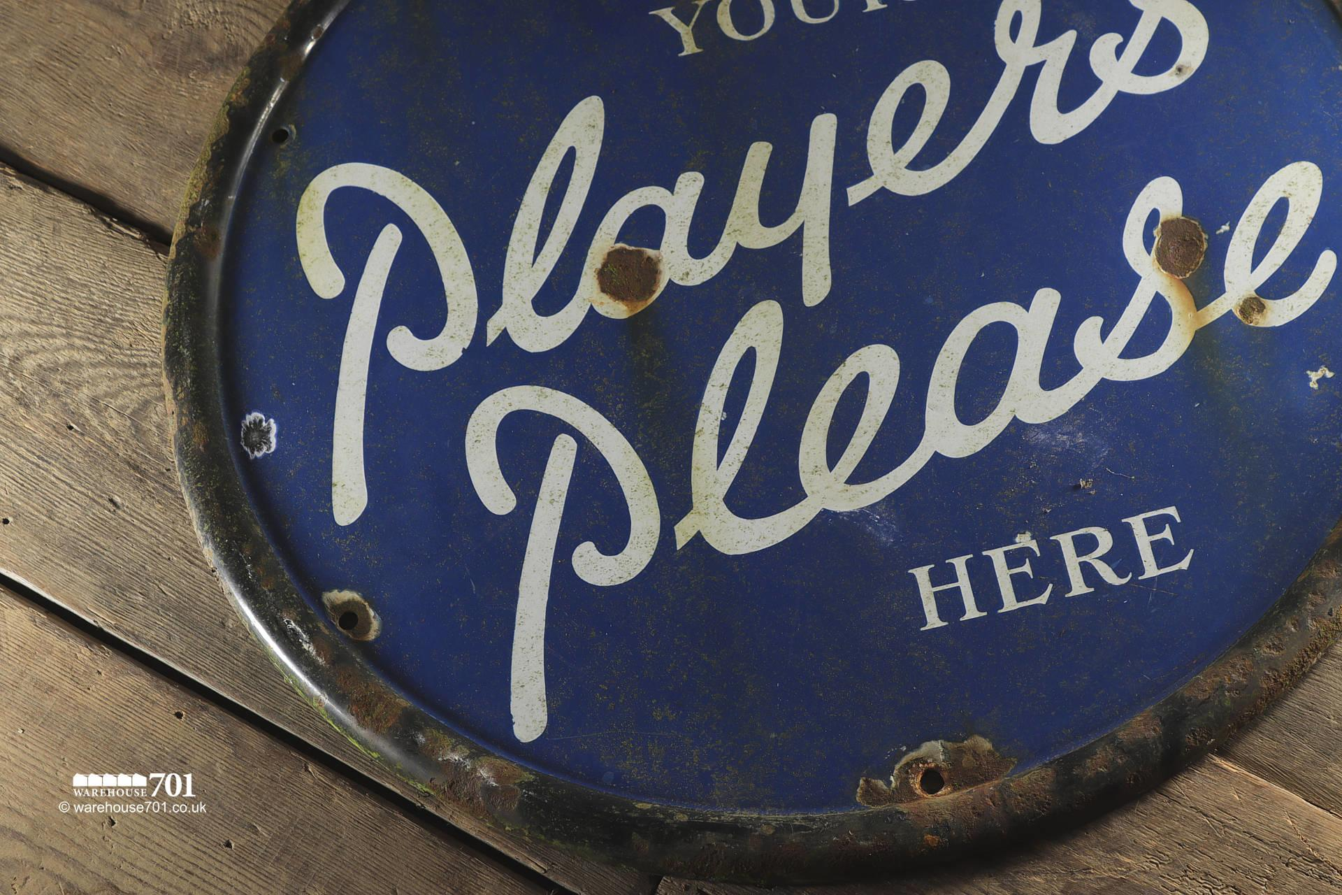 Reclaimed Round Metal Players Please Sign #2