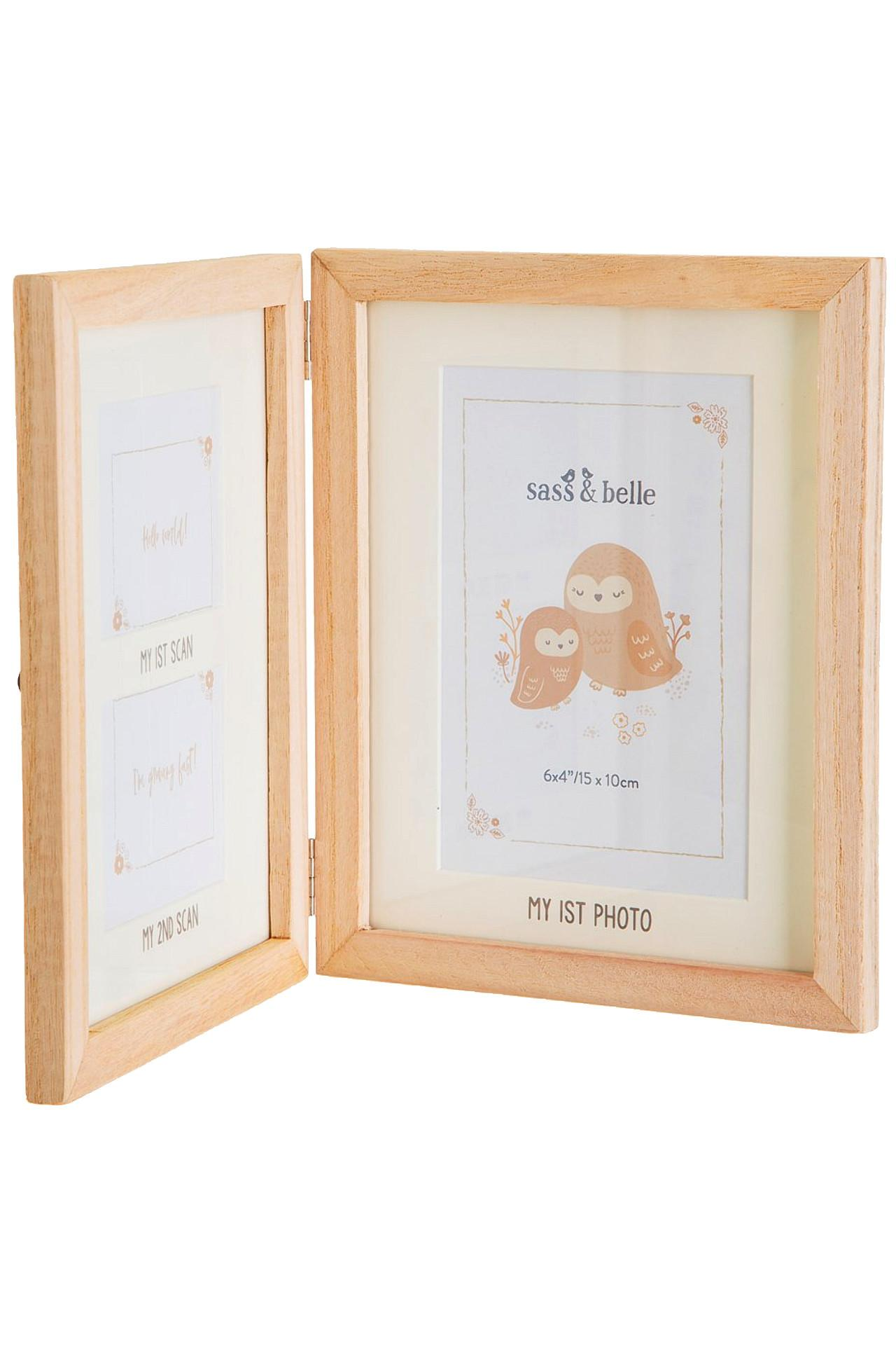 New Woodland Photo Frame for Two Baby Scans and One Photo #2